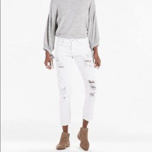 Lucky Brand White Sienna Slim Boyfriend Jeans NWT